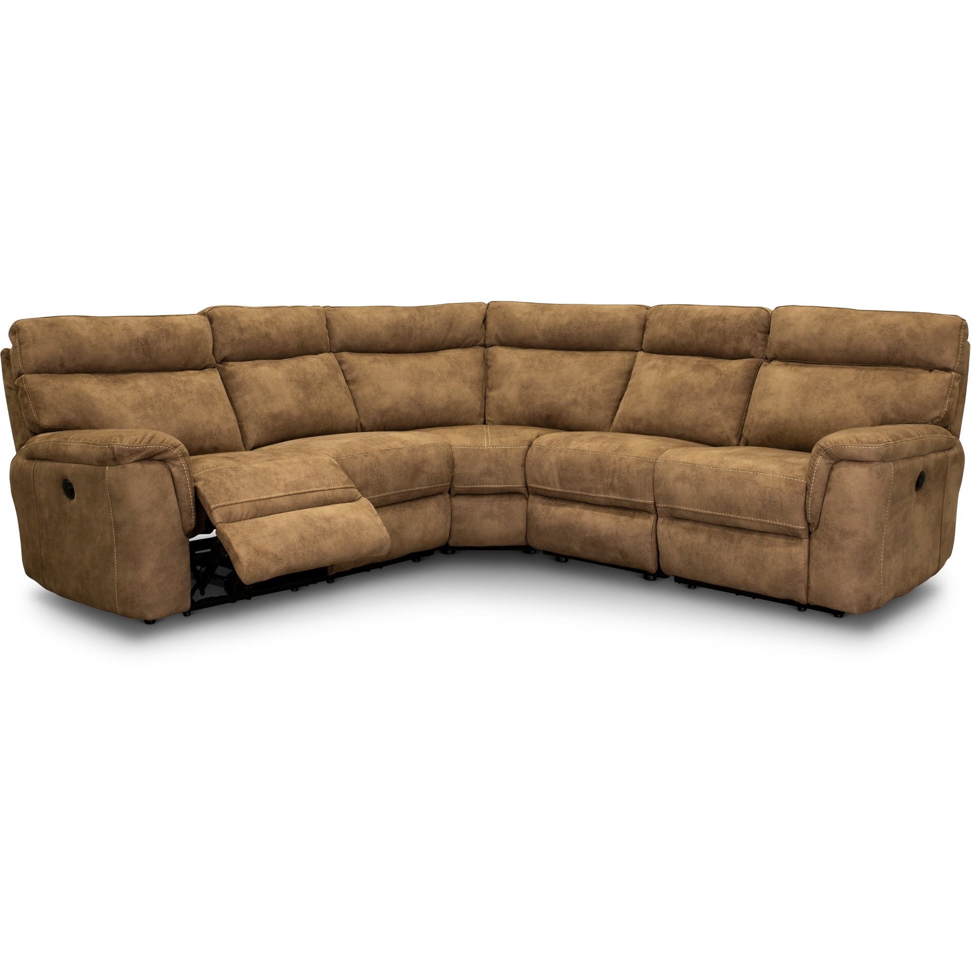 Taupe 5 Piece Power Reclining Sectional Sofa - Maci | RC Willey ...