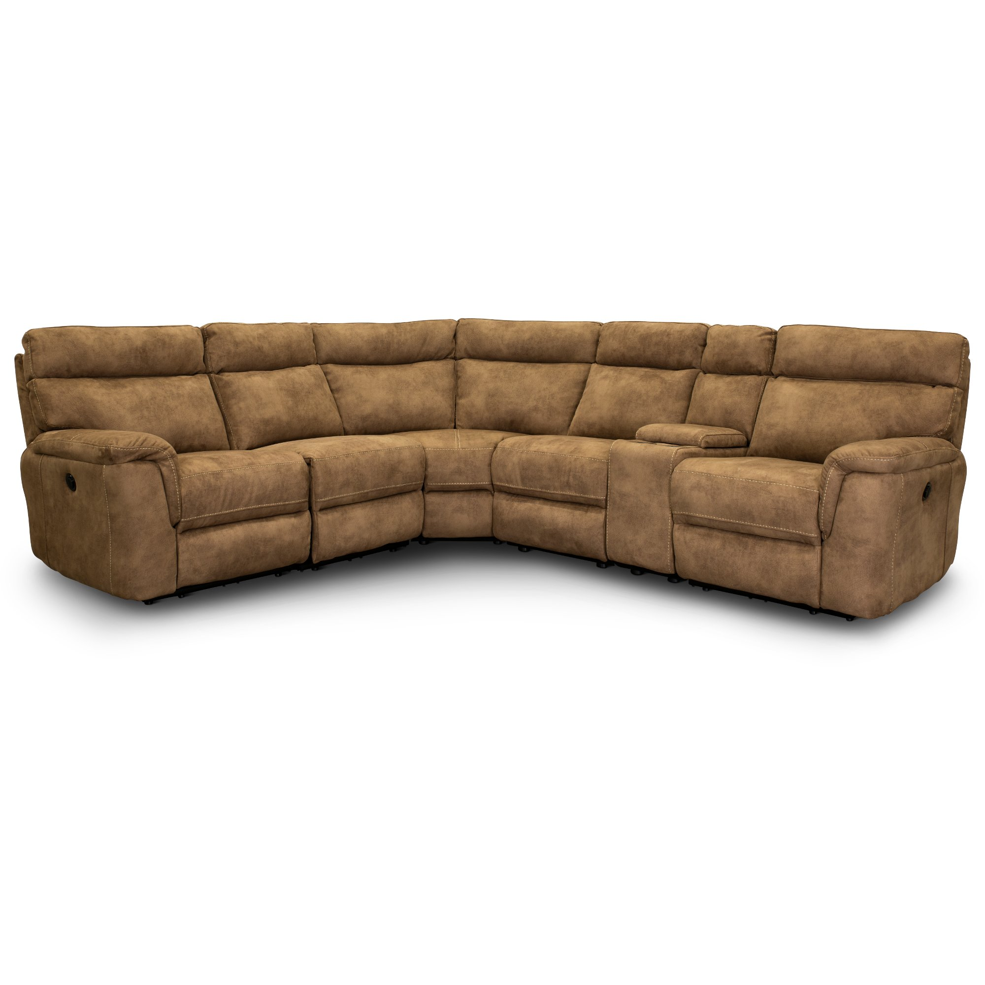 Taupe 6 Piece Power Reclining Sectional Sofa - Maci