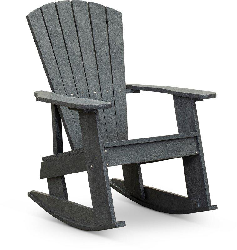 Outdoor Patio Rocking Adirondack Chair