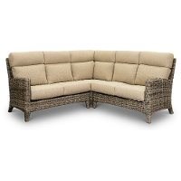 Wicker and Sand 3 Piece Patio Sectional - Cenacle