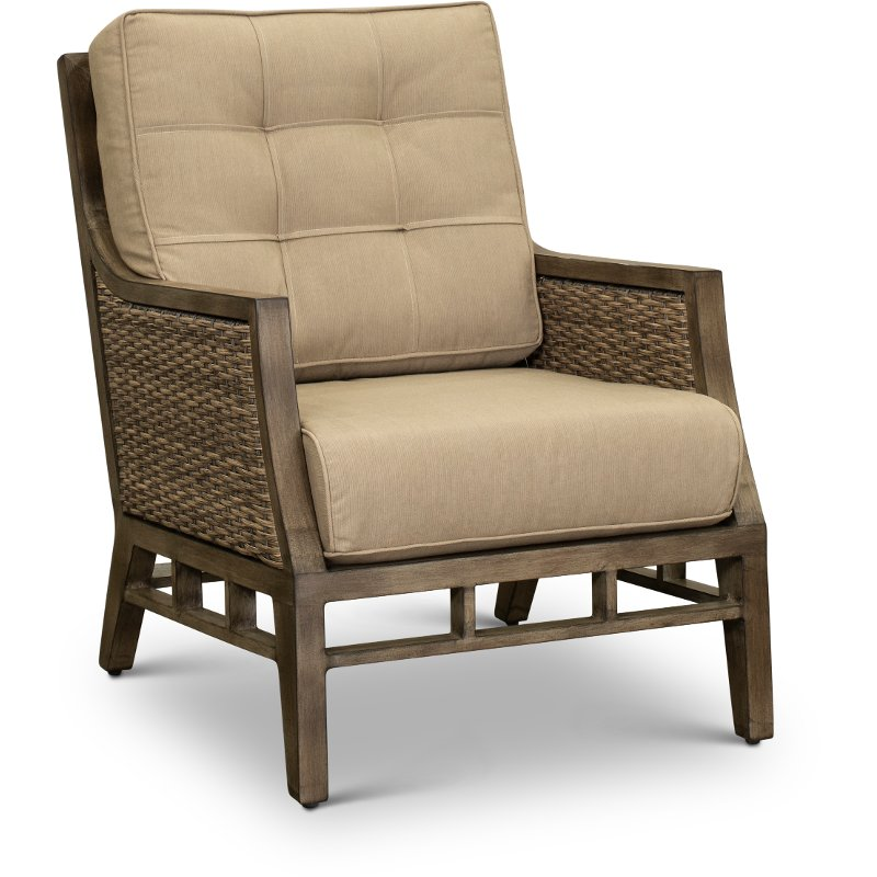 Wondrous Sunbrella Patio Wicker Club Chair Danbury Andrewgaddart Wooden Chair Designs For Living Room Andrewgaddartcom