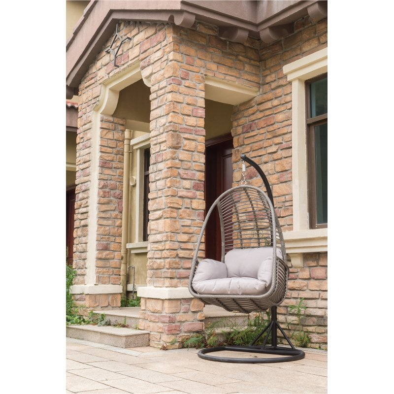 Metal Wicker Outdoor Hanging Chair With Cushion Rc Willey Furniture Store
