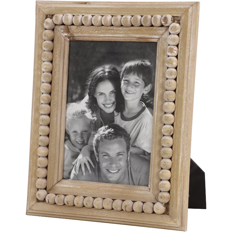 Rc Willey Draper: Wooden Picture Frame With Beaded Detail