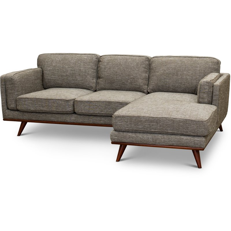 Merveilleux Modern Gray Sectional Sofa With LAF Loveseat   Camden
