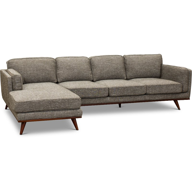 Modern Gray Sectional Sofa with LAF Chaise - Camden | RC Willey ...