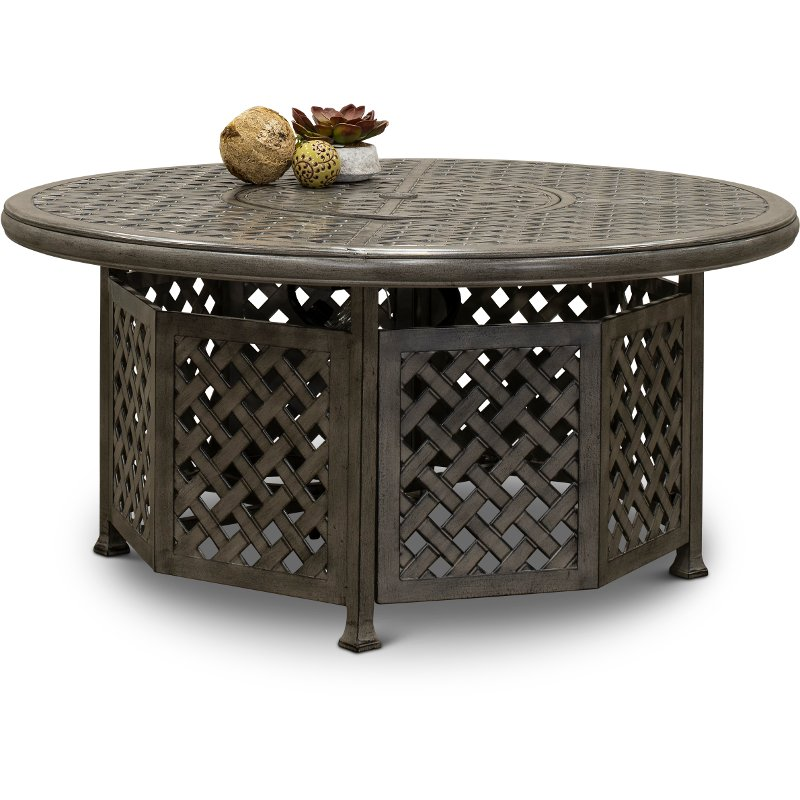 Gray 52 Inch Patio Fire Pit Table Macon Rc Willey Furniture Store