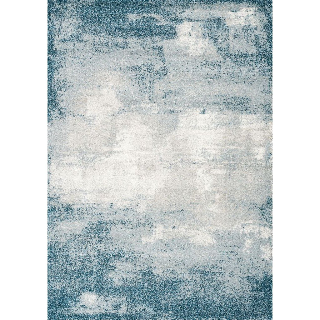 8 X 11 Large Teal Gray And Cream Area Rug Sable Rc