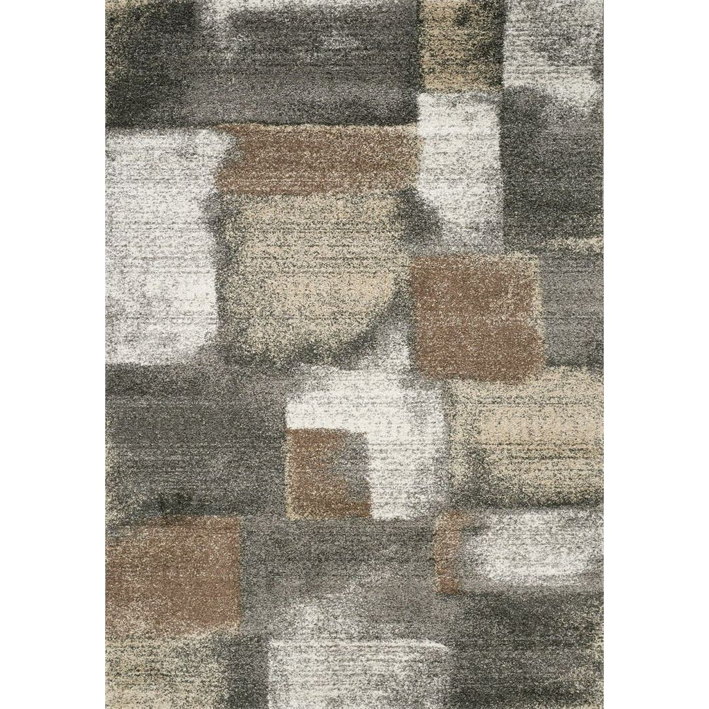 5 X 8 Medium Stonework Gray And Brown Area Rug Breeze Rc Willey Furniture Store