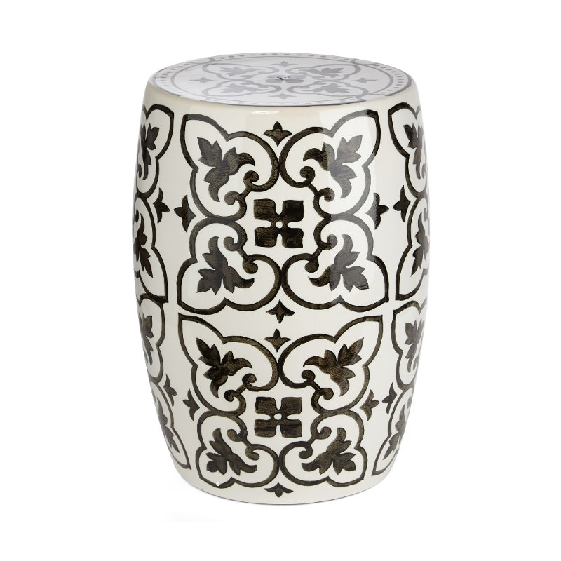 Cool White And Black Ceramic Garden Stool Andrewgaddart Wooden Chair Designs For Living Room Andrewgaddartcom
