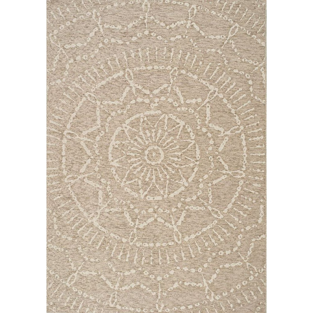 Beige And Cream Indoor Outdoor Area Rug