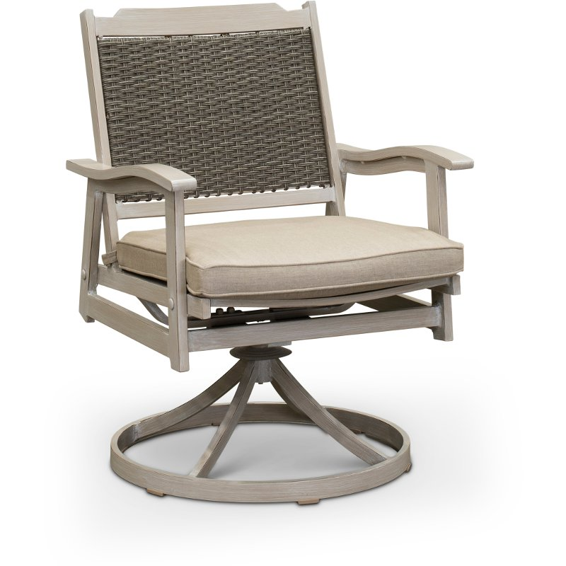 Rc Willey Truck: White Washed Swivel Rocker Patio Chair - Lake House
