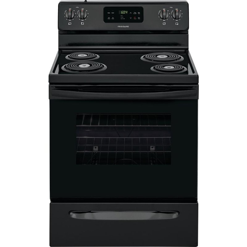 Frigidaire 30 Inch Electric Slide In Range Black Rc Willey Furniture