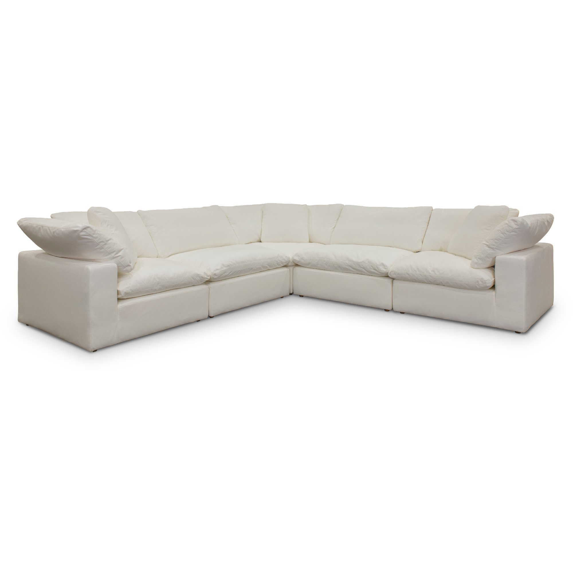Pearl White 5 Piece Sectional Sofa - Peyton | RC Willey Furniture Store
