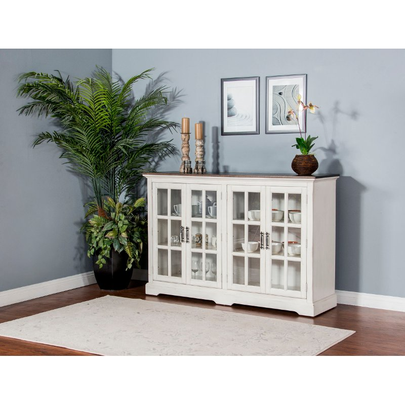 French Country White Two Tone Dining Room Sideboard Bourbon County