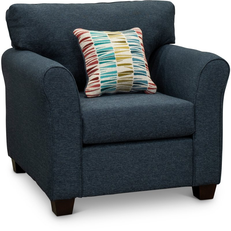 . Casual Contemporary Navy Blue Chair   Wall St