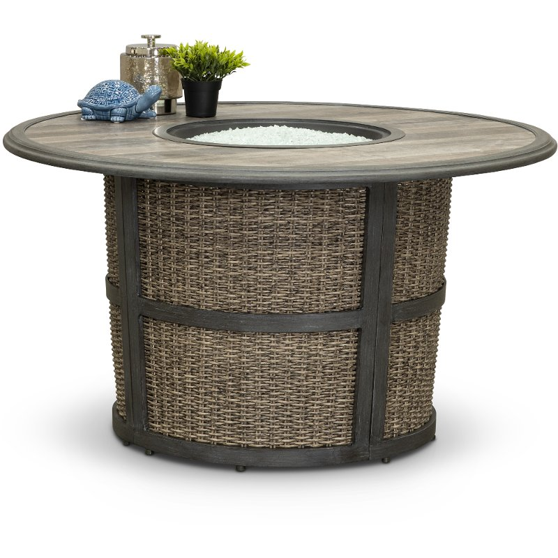 Fabulous Round Wicker Patio Fire Pit Shadbrook Download Free Architecture Designs Photstoregrimeyleaguecom