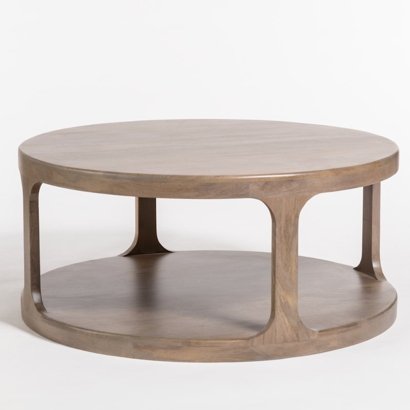 Mist Ash Round Coffee Table Mason Rc Willey Furniture Store