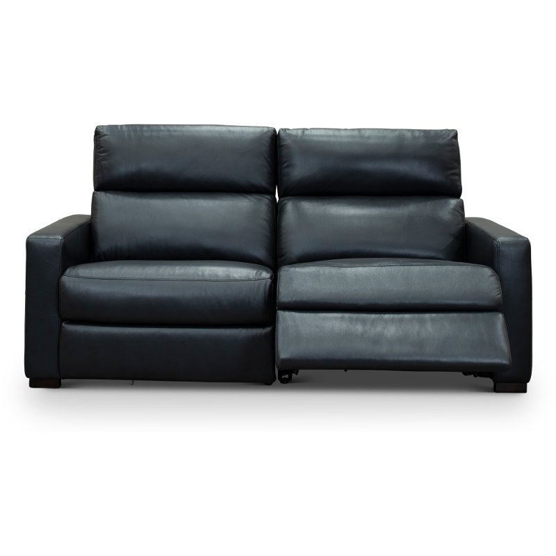 Astonishing Navy Blue Leather Match Power Reclining Loveseat Angler Andrewgaddart Wooden Chair Designs For Living Room Andrewgaddartcom