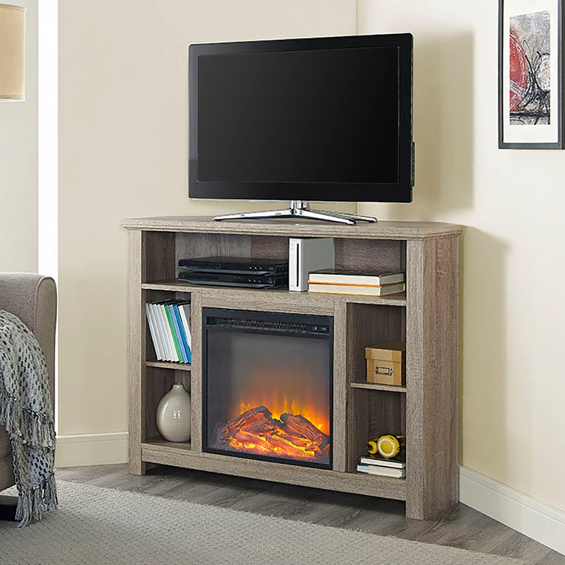 44 Inch Driftwood Corner Highboy Fireplace Tv Stand Rc Willey