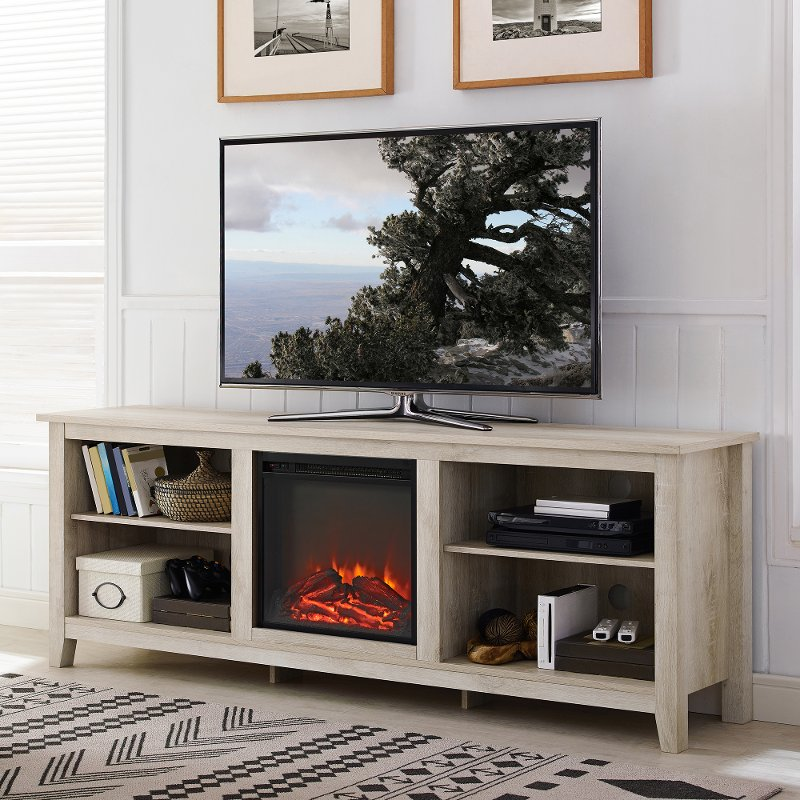 Fabulous White Oak 70 Inch Rustic Fireplace Tv Stand Download Free Architecture Designs Estepponolmadebymaigaardcom