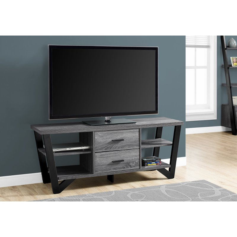 Gray Contemporary 60 Inch Tv Stand Rc Willey Furniture Store