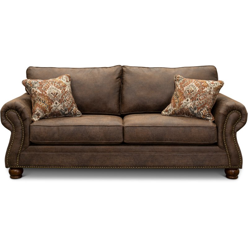 Marvelous Casual Traditional Mocha Brown Sofa Tahoe Gmtry Best Dining Table And Chair Ideas Images Gmtryco
