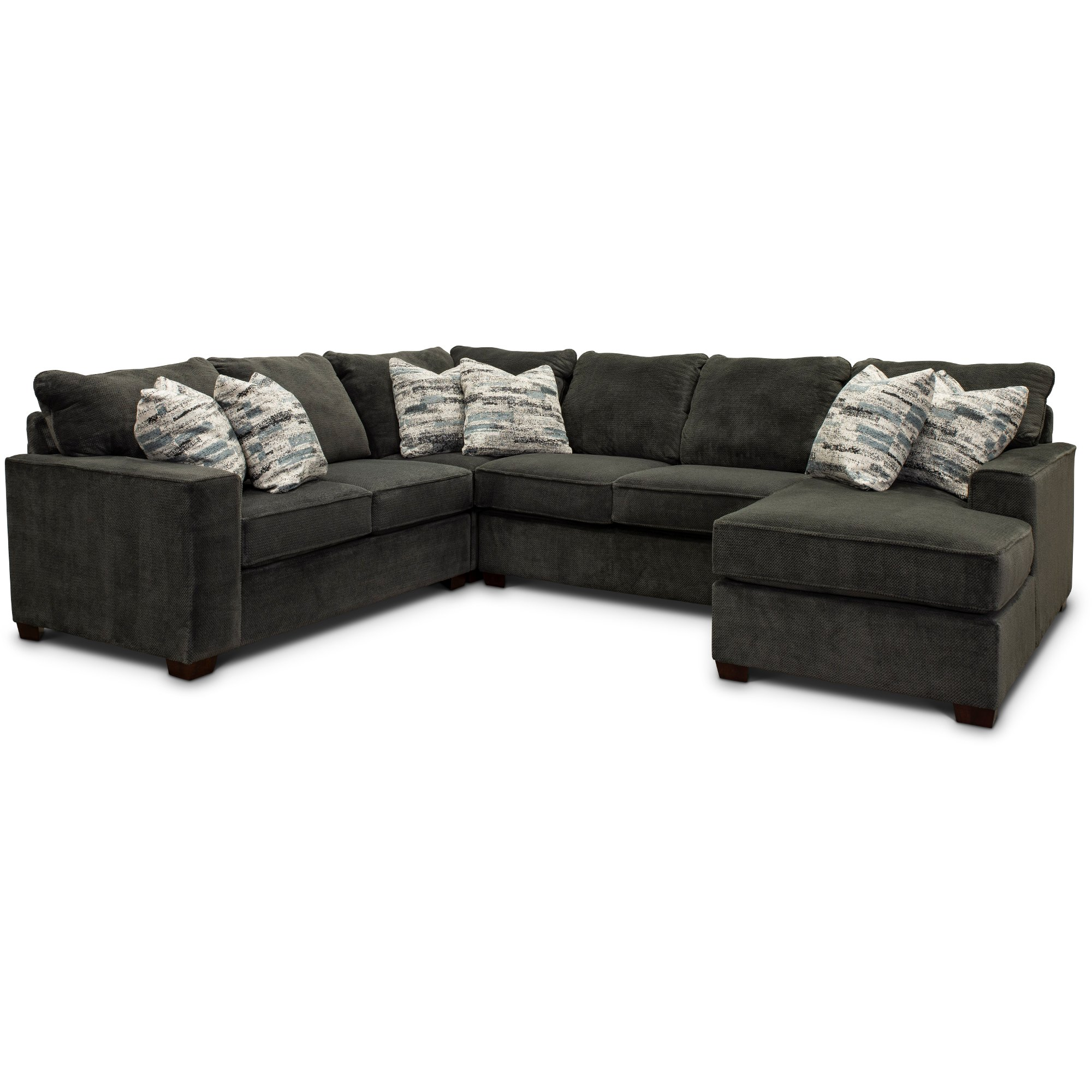 Dark Gray 4 Piece Sectional Sofa With