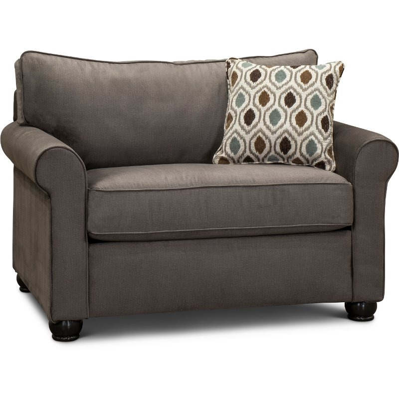 Smoke Gray Twin Sofa Bed Jojo