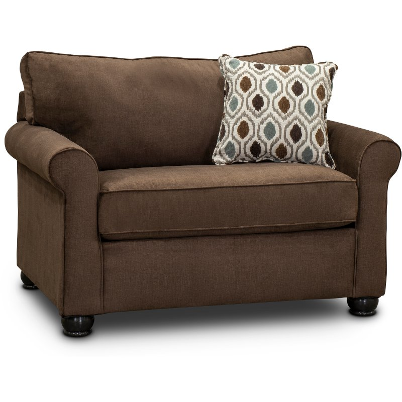 Chocolate Brown Twin Sofa Bed Jojo