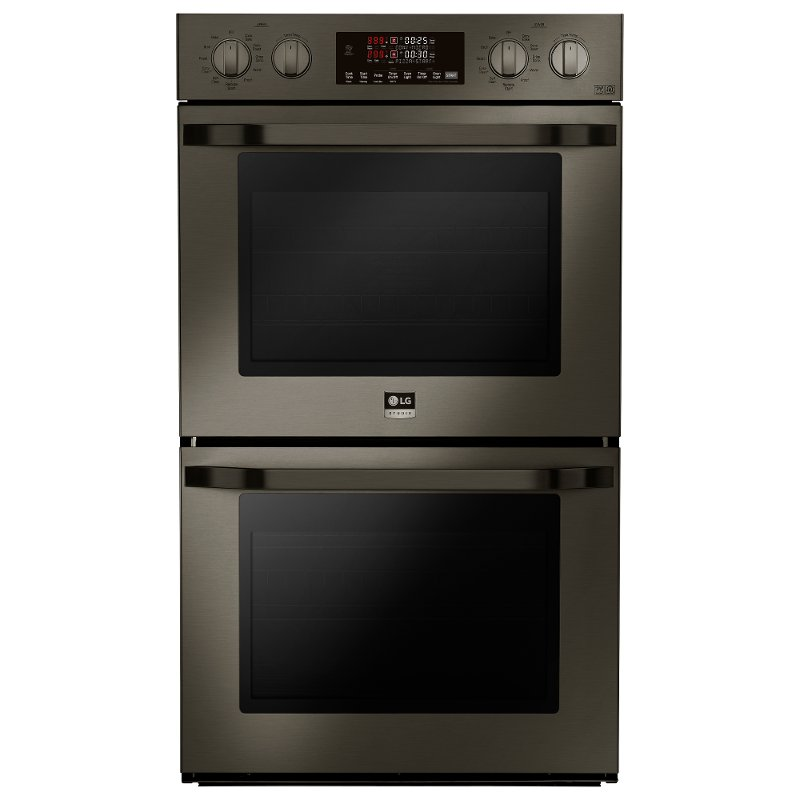 Lg Studio 30 Inch Double Wall Oven Black Stainless Steel Rc Willey Furniture