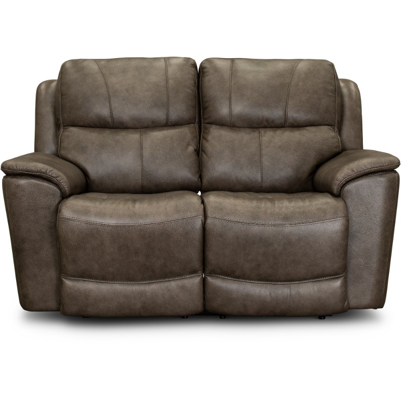 Admirable Sable Brown Leather Match Power Reclining Loveseat Cade Ncnpc Chair Design For Home Ncnpcorg