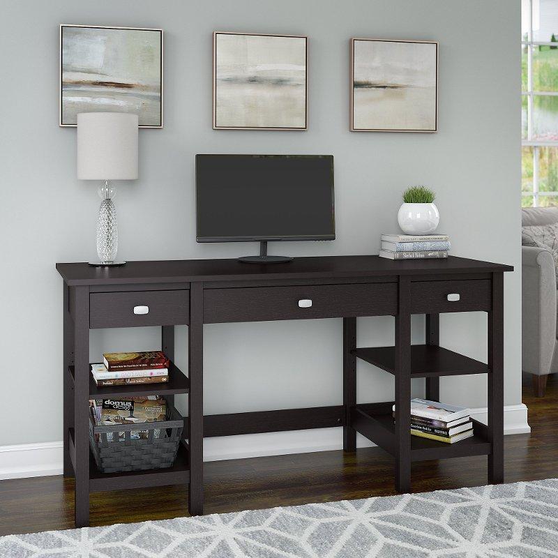 Espresso Oak 60 Inch Home Office Desk Broadview