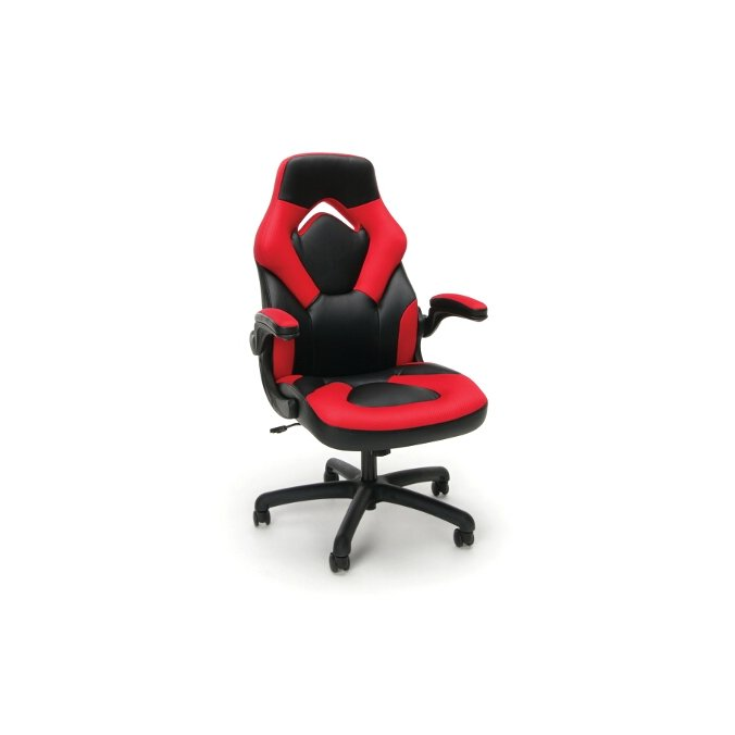 Magnificent Red And Black Racing Style Leather Gaming Chair Essentials Dailytribune Chair Design For Home Dailytribuneorg