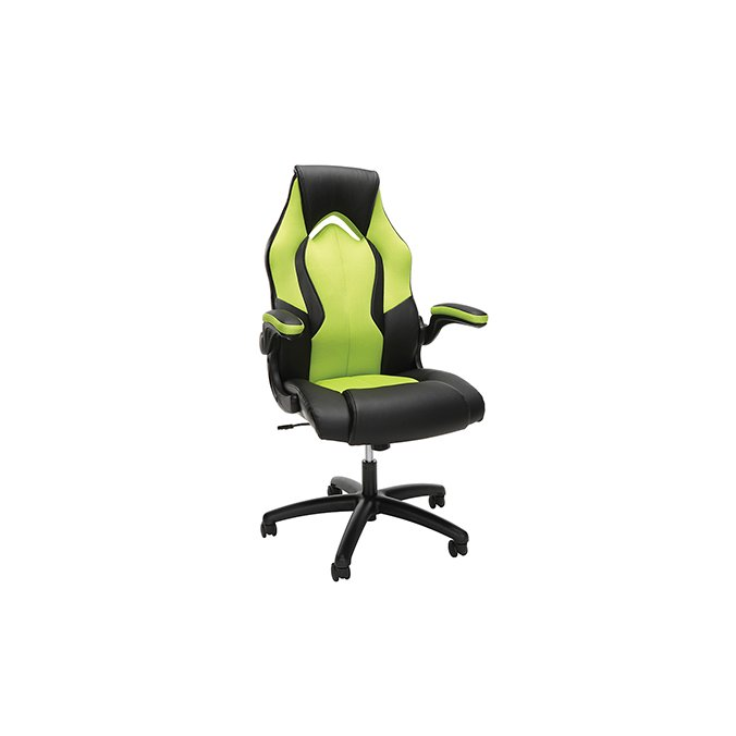 Marvelous Green And Black Leather Gaming Chair Essentials Squirreltailoven Fun Painted Chair Ideas Images Squirreltailovenorg