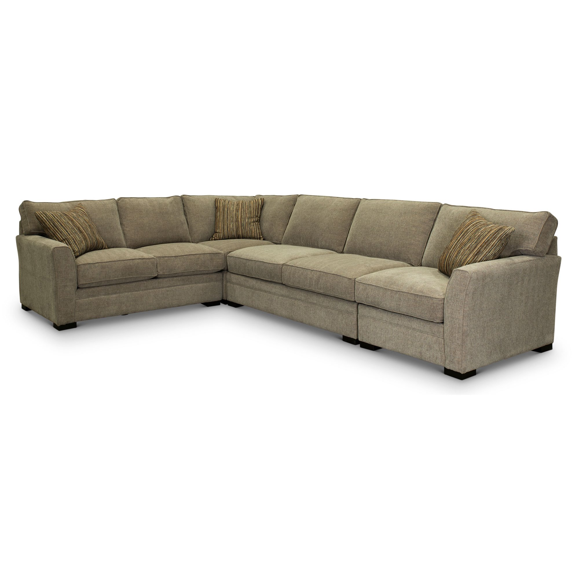 sports shoes b69d8 61a36 Taupe Gray 4 Piece Sectional Sofa with LAF Loveseat - Scorpio