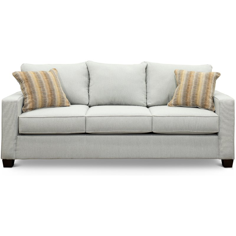 Contemporary Sky Gray Sofa - Gavin