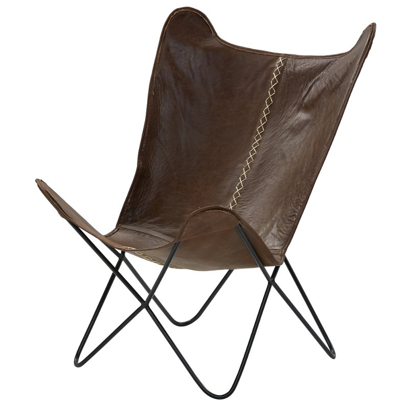 Prime Brown Leather Accent Chair With Black Metal Legs Paxton Unemploymentrelief Wooden Chair Designs For Living Room Unemploymentrelieforg