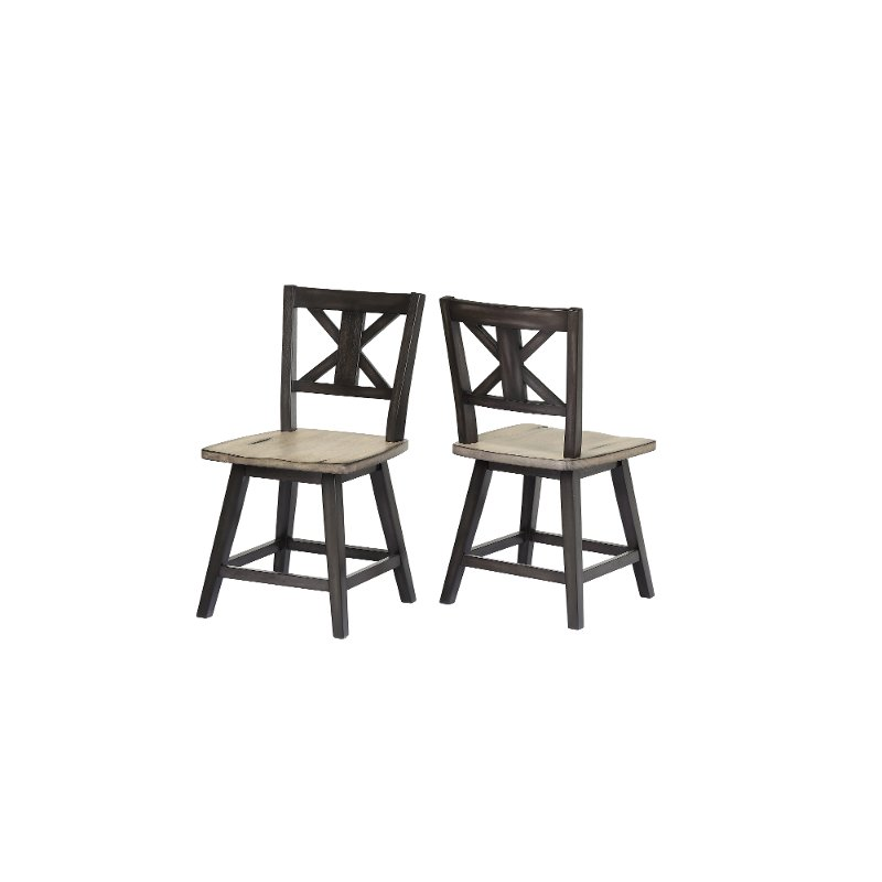 Sand And Black Swivel Dining Room Chair