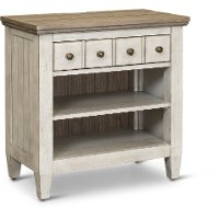 Classic Country Antique White Nightstand - Heartland