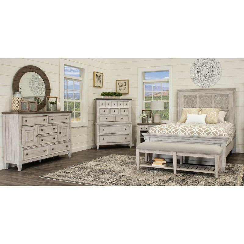 Antique White 4 Piece King Bedroom Set Heartland Rc Willey