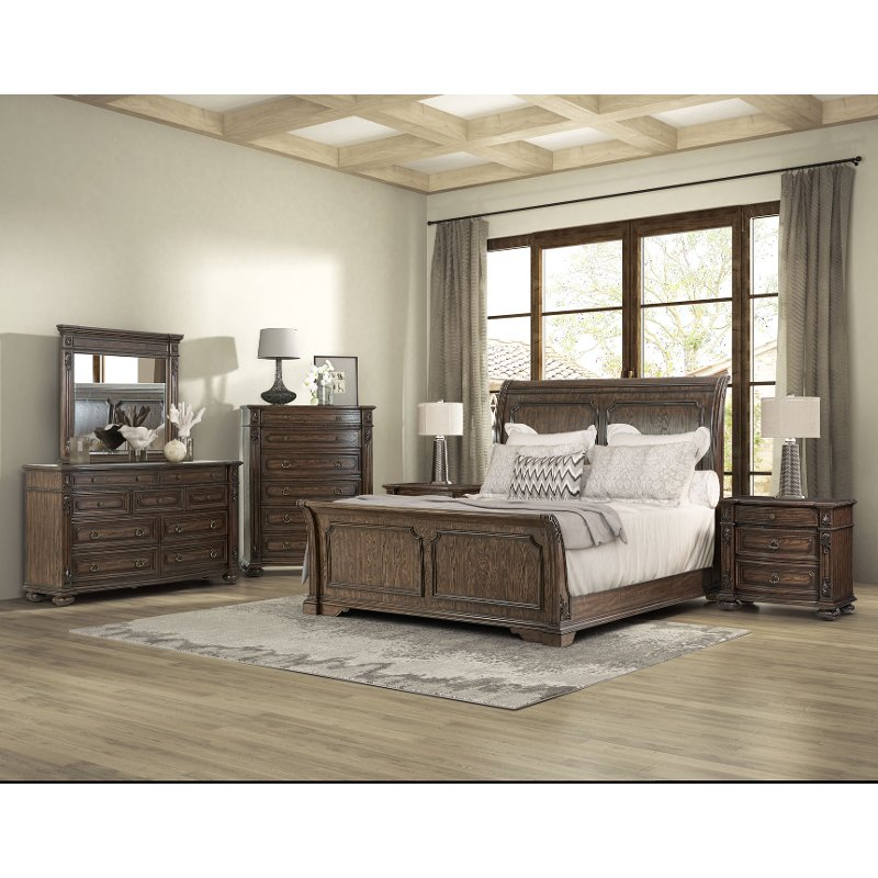 Hazelnut Brown 4 Piece Queen Bedroom Set - Tuscany Pointe | RC ...