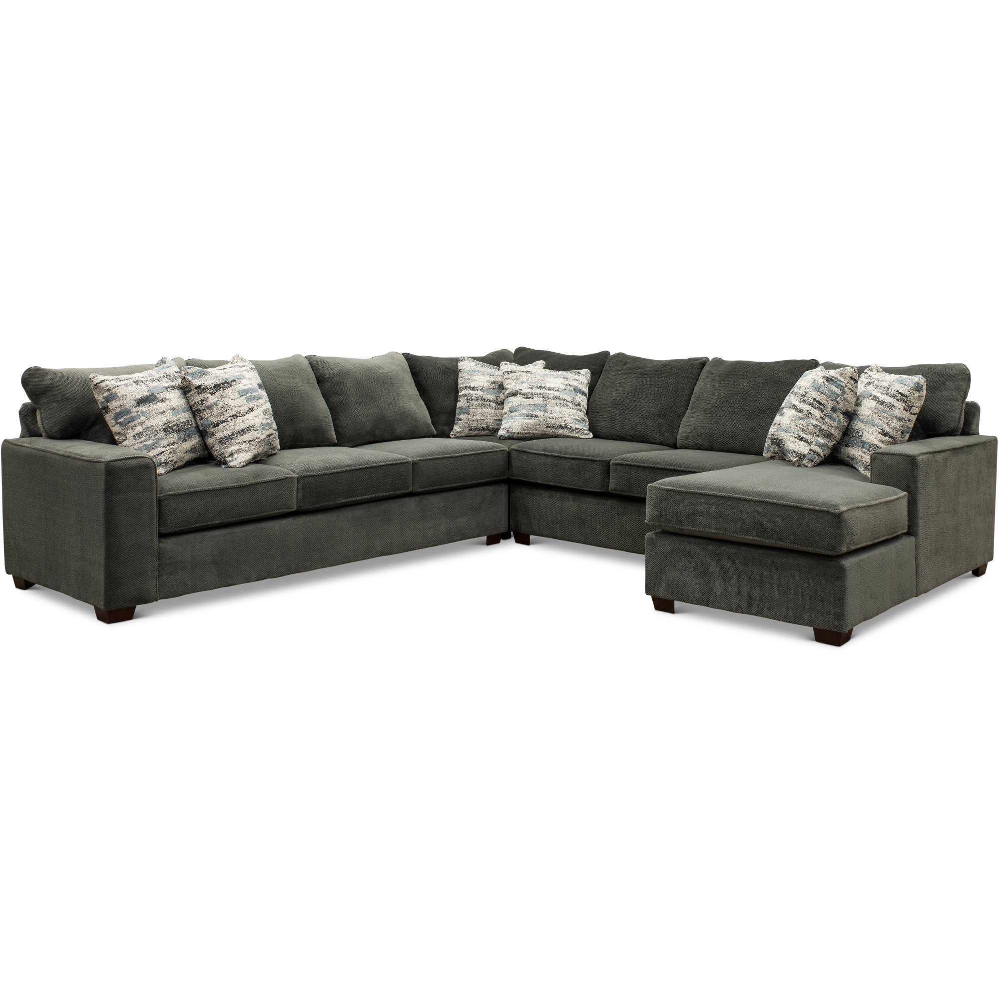 Dark Gray 4 Piece Sectional Sofa with LAF Sofa - Autumn