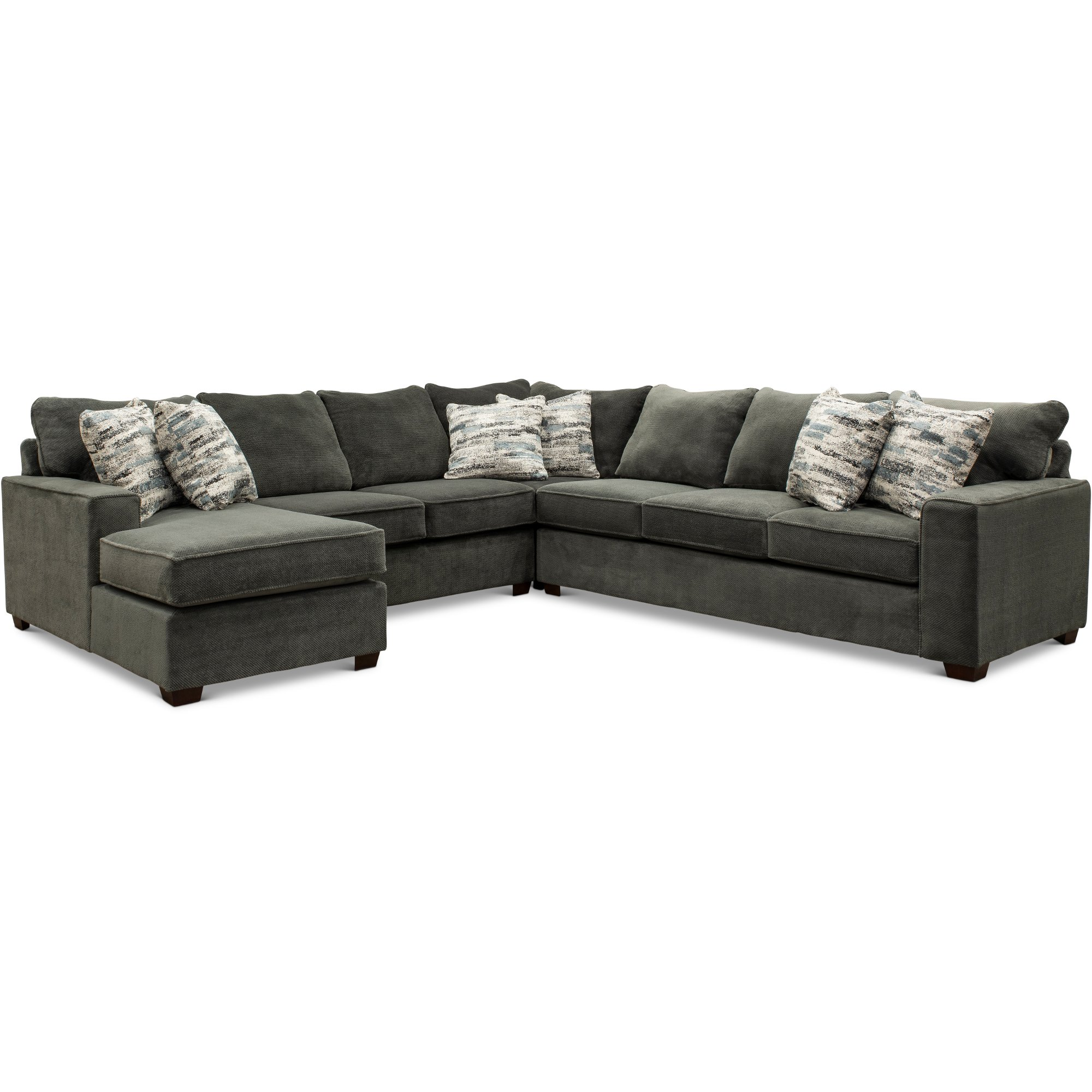 Dark Gray 4 Piece Sectional Sofa with RAF Sofa - Autumn