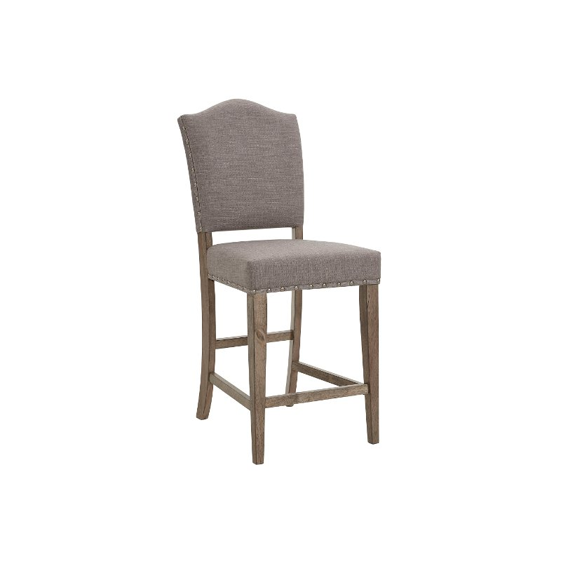 fc38d51912edd5 Brown and Gray Upholstered Counter Height Stool - Keystone | RC Willey  Furniture Store