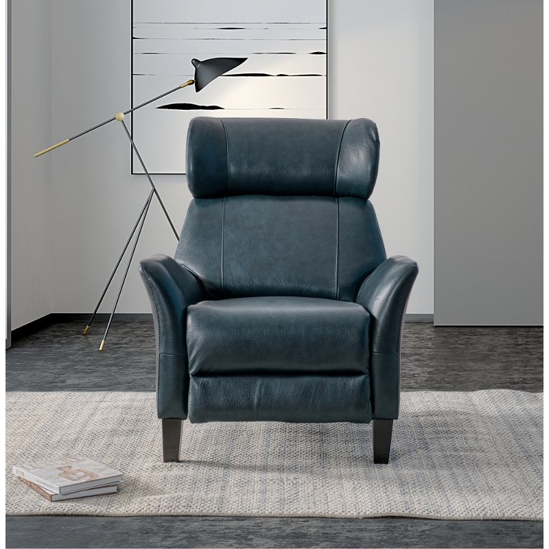 Peachy Navy Blue Leather Match Push Back Recliner Galaxy Gmtry Best Dining Table And Chair Ideas Images Gmtryco