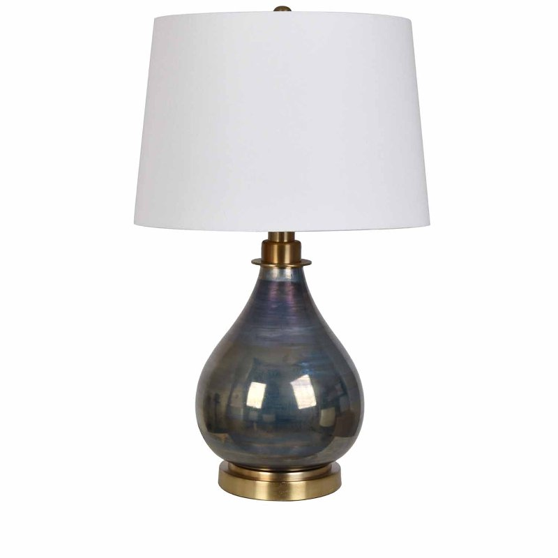 28 Inch Gray Cone Ceramic Table Lamp With Gold Accents Rc Willey Furniture