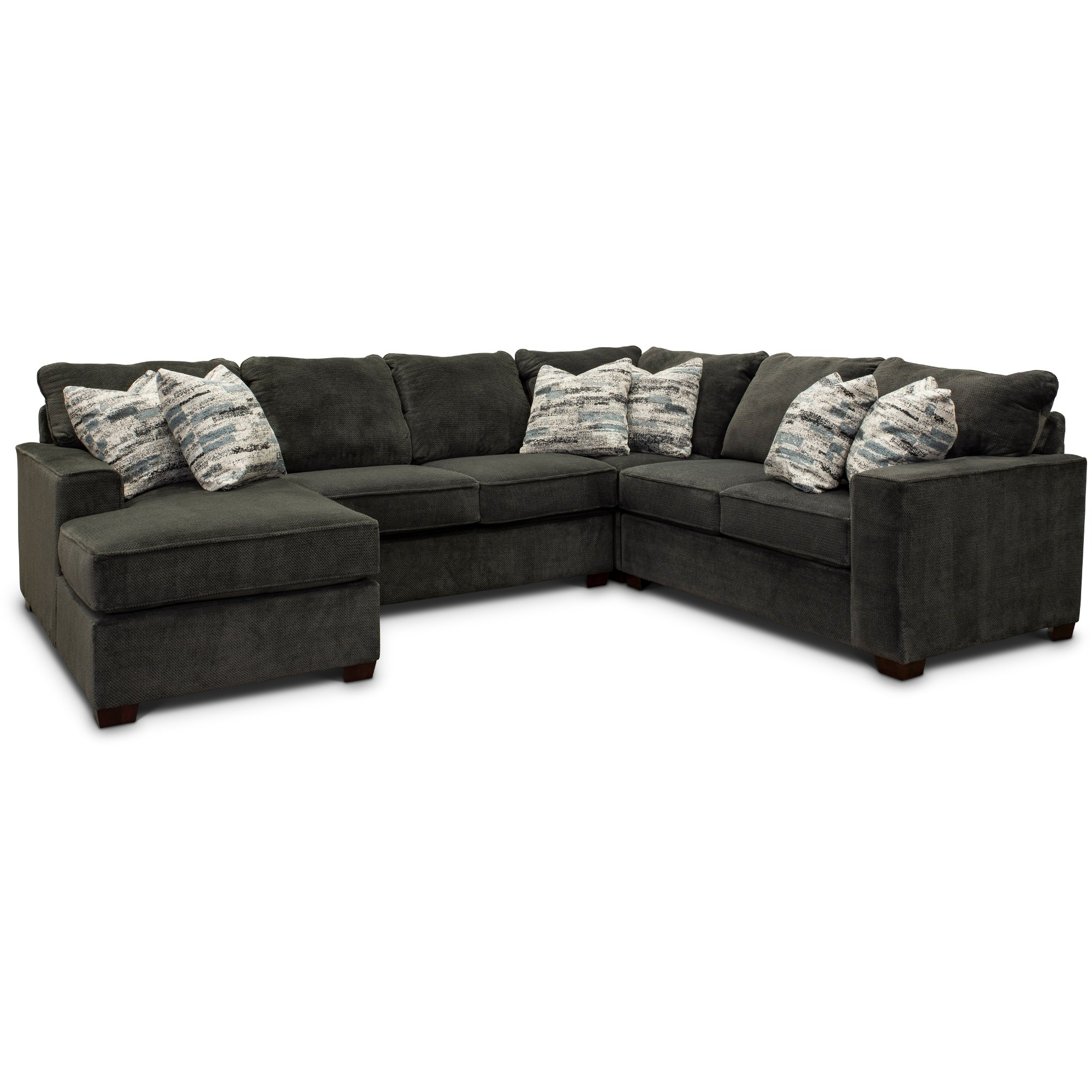 Magnificent Dark Gray 4 Piece Sectional Sofa With Raf Loveseat Autumn Alphanode Cool Chair Designs And Ideas Alphanodeonline