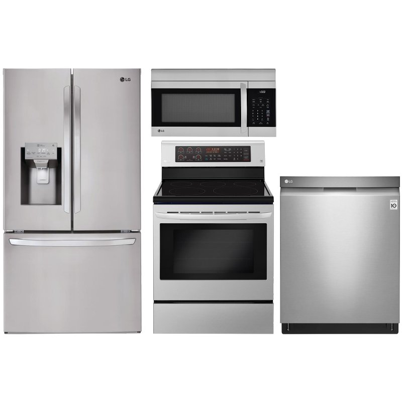 LG 4 Piece Kitchen Appliance Package With 6.3 Cu. Ft