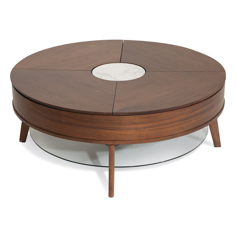 Rc Willey Truck: Modern Lift-top Round Cocktail Table - Bellemie