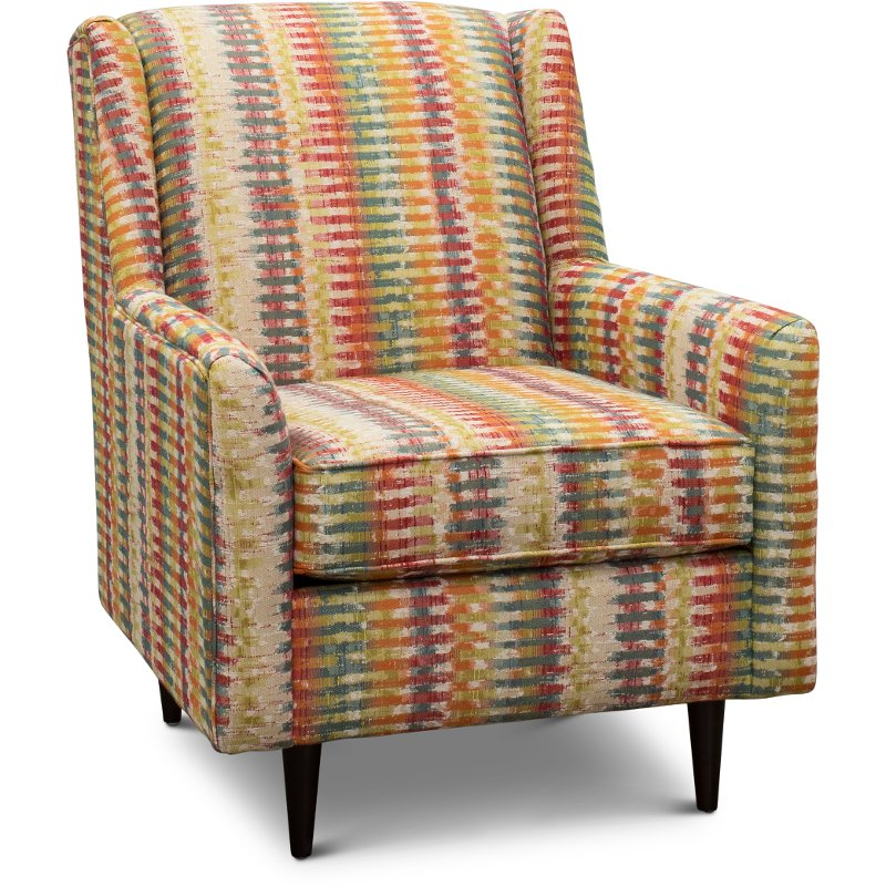 Wondrous Mid Century Modern Multi Color Accent Chair Zane Ibusinesslaw Wood Chair Design Ideas Ibusinesslaworg